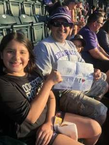 Francisco Rivera attended Colorado Rockies vs. Arizona Diamondbacks - MLB on Aug 12th 2019 via VetTix