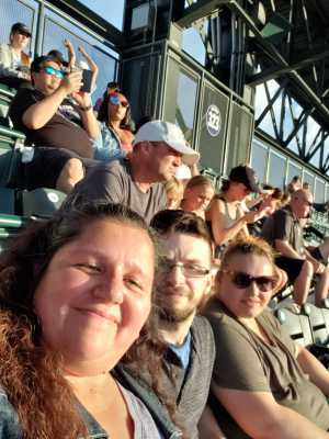 Corina attended Colorado Rockies vs. Arizona Diamondbacks - MLB on Aug 12th 2019 via VetTix