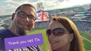 Albin attended Colorado Rockies vs. Arizona Diamondbacks - MLB on Aug 12th 2019 via VetTix