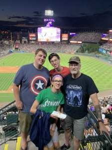 Dennis attended Colorado Rockies vs. Arizona Diamondbacks - MLB on Aug 12th 2019 via VetTix