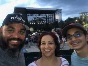 Juan attended Rob Thomas: Chip Tooth Tour - Pop on Jul 11th 2019 via VetTix
