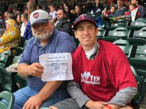 Jeff attended Minnesota Twins vs. Kansas City Royals - MLB on Sep 22nd 2019 via VetTix