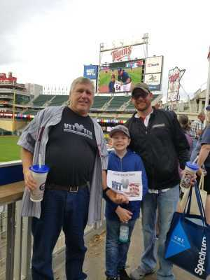 Thomas attended Minnesota Twins vs. Kansas City Royals - MLB on Sep 22nd 2019 via VetTix
