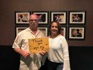 Dutch and Vivian Freiberger attended Stand Up for Heroes - Arlington Improv - Thursday 8 PM 18+ on Jul 18th 2019 via VetTix