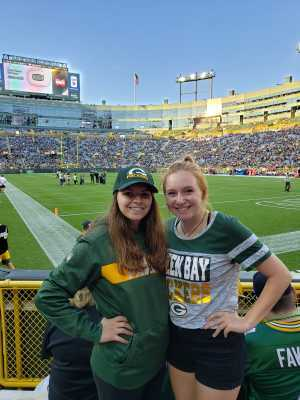 Spencer attended Green Bay Packers vs. Kansas City Chiefs - NFL Preseason on Aug 29th 2019 via VetTix