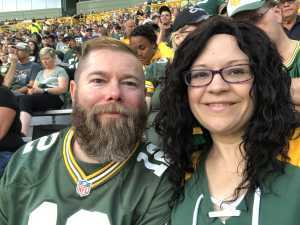 Kristina attended Green Bay Packers vs. Kansas City Chiefs - NFL Preseason on Aug 29th 2019 via VetTix