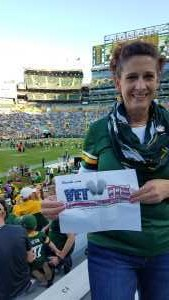 Catherine attended Green Bay Packers vs. Kansas City Chiefs - NFL Preseason on Aug 29th 2019 via VetTix