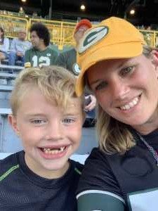 Jessica attended Green Bay Packers vs. Kansas City Chiefs - NFL Preseason on Aug 29th 2019 via VetTix