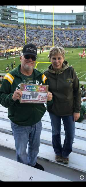 Kevin attended Green Bay Packers vs. Kansas City Chiefs - NFL Preseason on Aug 29th 2019 via VetTix