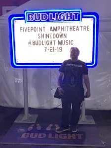 Scott attended Shinedown: Attention World Tour on Jul 21st 2019 via VetTix