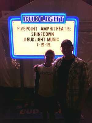 Chris attended Shinedown: Attention World Tour on Jul 21st 2019 via VetTix