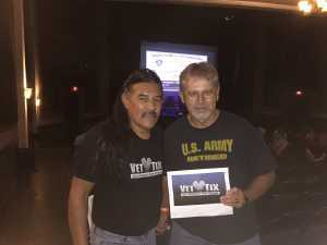 Thomas attended Another Journey - at the Rialto Theatre on Aug 9th 2019 via VetTix