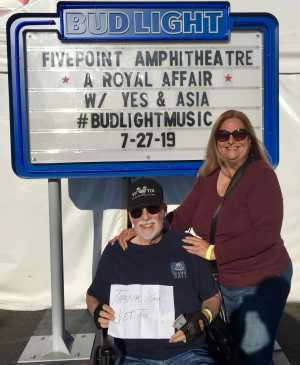Thomas attended A Royal Affair Tour With British Rock Bands: Yes, Asia, John Lodge, Palmer's ELP Legacy Live! on Jul 27th 2019 via VetTix