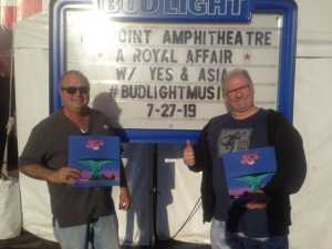 Edward attended A Royal Affair Tour With British Rock Bands: Yes, Asia, John Lodge, Palmer's ELP Legacy Live! on Jul 27th 2019 via VetTix