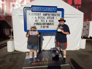 Jeff attended A Royal Affair Tour With British Rock Bands: Yes, Asia, John Lodge, Palmer's ELP Legacy Live! on Jul 27th 2019 via VetTix