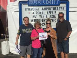 Leo attended A Royal Affair Tour With British Rock Bands: Yes, Asia, John Lodge, Palmer's ELP Legacy Live! on Jul 27th 2019 via VetTix