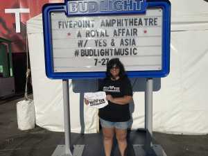 Lisa attended A Royal Affair Tour With British Rock Bands: Yes, Asia, John Lodge, Palmer's ELP Legacy Live! on Jul 27th 2019 via VetTix