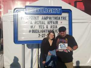 Dave attended A Royal Affair Tour With British Rock Bands: Yes, Asia, John Lodge, Palmer's ELP Legacy Live! on Jul 27th 2019 via VetTix