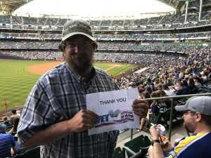 David attended Milwaukee Brewers vs. Minnesota Twins - MLB on Aug 13th 2019 via VetTix