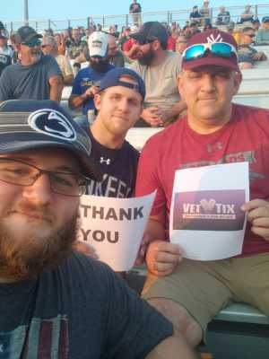 JOSEPH attended Federated Auto Parts 400 - Monster Energy NASCAR Cup Series on Sep 21st 2019 via VetTix