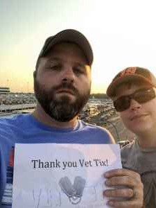 Jeremy attended Federated Auto Parts 400 - Monster Energy NASCAR Cup Series on Sep 21st 2019 via VetTix