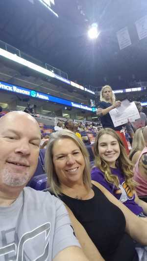 Trenton attended Phoenix Mercury vs. Washington Mystics - WNBA on Aug 4th 2019 via VetTix