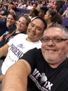 Brian attended Phoenix Mercury vs. Washington Mystics - WNBA on Aug 4th 2019 via VetTix