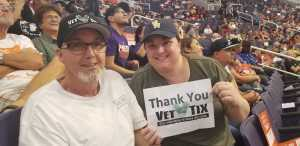 Courtney attended Phoenix Mercury vs. Washington Mystics - WNBA on Aug 4th 2019 via VetTix