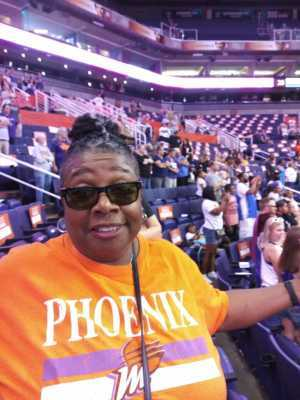 Jacqueline attended Phoenix Mercury vs. Washington Mystics - WNBA on Aug 4th 2019 via VetTix