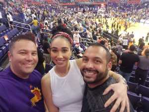 Raphael attended Phoenix Mercury vs. Washington Mystics - WNBA on Aug 4th 2019 via VetTix