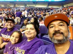 Bennie attended Phoenix Mercury vs. Washington Mystics - WNBA on Aug 4th 2019 via VetTix