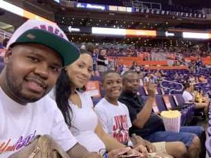 Terrence attended Phoenix Mercury vs. Washington Mystics - WNBA on Aug 4th 2019 via VetTix