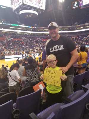 Kyle attended Phoenix Mercury vs. Washington Mystics - WNBA on Aug 4th 2019 via VetTix
