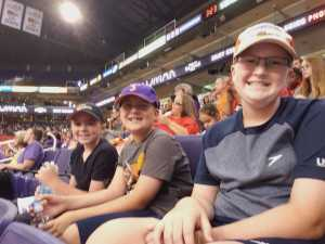 Blake attended Phoenix Mercury vs. Washington Mystics - WNBA on Aug 4th 2019 via VetTix