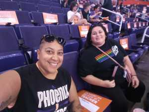 Christina attended Phoenix Mercury vs. Washington Mystics - WNBA on Aug 4th 2019 via VetTix