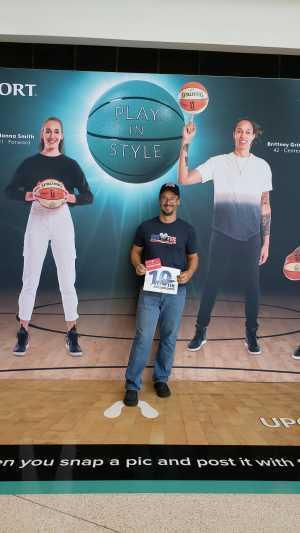 Russell attended Phoenix Mercury vs. Washington Mystics - WNBA on Aug 4th 2019 via VetTix