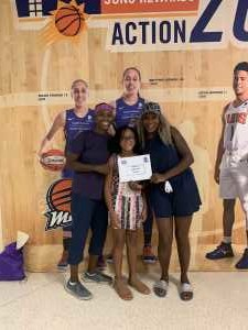 Dee, Que and Simone  attended Phoenix Mercury vs. Washington Mystics - WNBA on Aug 4th 2019 via VetTix