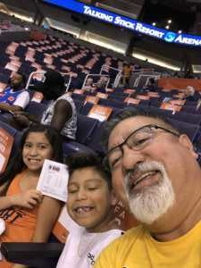 Mark  attended Phoenix Mercury vs. Washington Mystics - WNBA on Aug 4th 2019 via VetTix