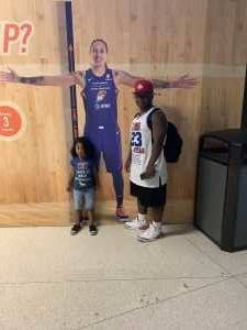 Kyndric attended Phoenix Mercury vs. Washington Mystics - WNBA on Aug 4th 2019 via VetTix