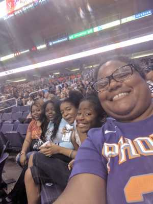 Ja'Von attended Phoenix Mercury vs. Washington Mystics - WNBA on Aug 4th 2019 via VetTix