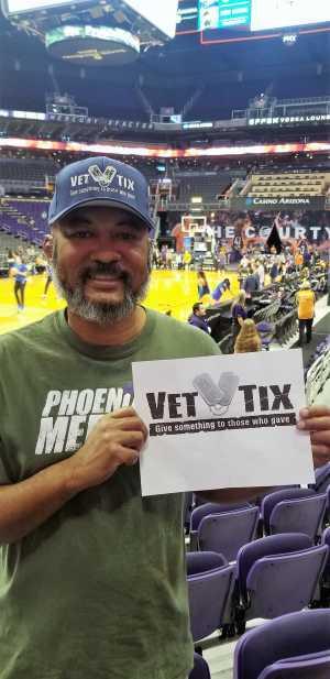 Bennie attended Phoenix Mercury vs. Dallas Wings - WNBA on Aug 10th 2019 via VetTix
