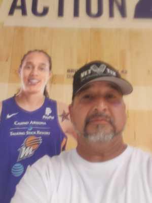 Richard  Vasquez , Desert Storm Vet  attended Phoenix Mercury vs. Dallas Wings - WNBA on Aug 10th 2019 via VetTix
