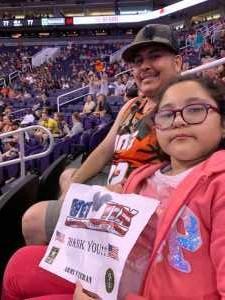 Jose attended Phoenix Mercury vs. Dallas Wings - WNBA on Aug 10th 2019 via VetTix