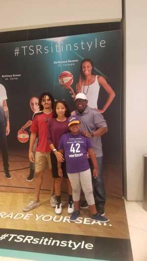 Richard attended Phoenix Mercury vs. Dallas Wings - WNBA on Aug 10th 2019 via VetTix