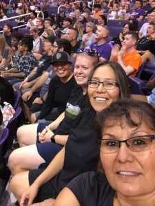 Leslie attended Phoenix Mercury vs. Dallas Wings - WNBA on Aug 10th 2019 via VetTix