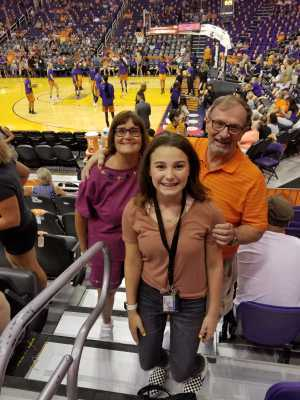 Clark attended Phoenix Mercury vs. Atlanta Dream - WNBA on Aug 16th 2019 via VetTix