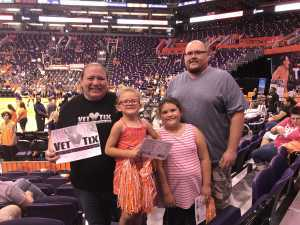 Kelly attended Phoenix Mercury vs. Atlanta Dream - WNBA on Aug 16th 2019 via VetTix