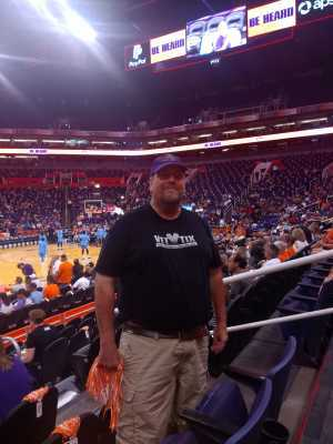 James attended Phoenix Mercury vs. Atlanta Dream - WNBA on Aug 16th 2019 via VetTix