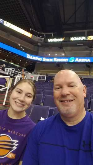 Trenton attended Phoenix Mercury vs. New York Liberty - WNBA on Aug 18th 2019 via VetTix