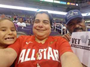 Bennie attended Phoenix Mercury vs. New York Liberty - WNBA on Aug 18th 2019 via VetTix